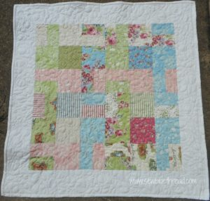 Cobble Stones Quilted Table Topper Sew Blue Thread
