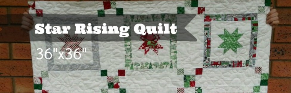 Get ready for the Christmas season, with this Star Rising Quilt